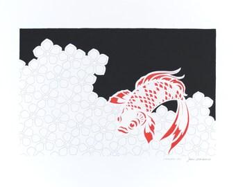 Art stencil type paper ashore