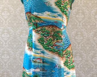 Summer Dress   Beach Dress   Casual Dress   Beach Cover up   Colorful Dress   Sleeveless Dress   Graphic Print   Cotton Dress   90s Dress