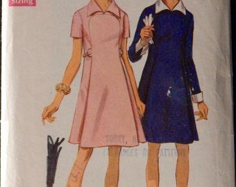 Vintage Misses'  Dress Pattern Simplicity 8406 Retro 1960's Size 18 Cute