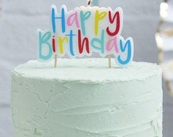 Rainbow Happy Birthday Candle | Birthday Candles | Rainbow Cake Candle