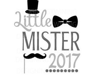 Little Mister New Years SVG PNG DXF file