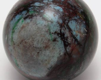 Polished Shattuckite and Malachite Sphere