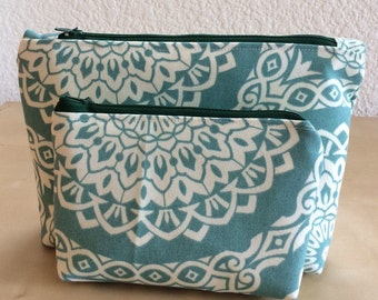 Makeup Bag Set-Cosmetic Bag Set-Cosmetic Pouch-Makeup storage-Toiletary organizer-Handmade item-Gift for her-Travel case-Vanity storage