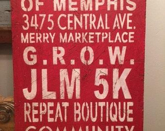 Junior League of Memphis Subway Sign