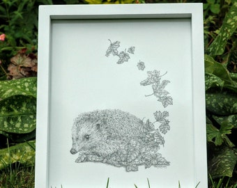 Autumn Hedgehog print