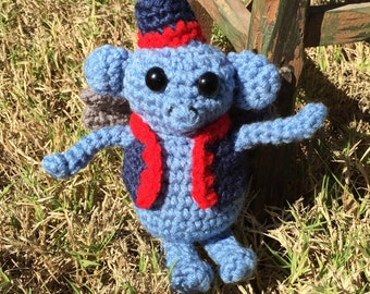 Handmade crochet flying monkey