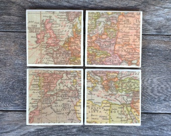 Map of Europe Ceramic Coasters
