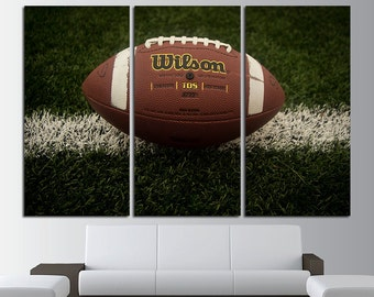 American Football Large Canvas Print Wall Art Multi Panel Set American Football Wall Art Football Canvas Football Extra Large Wall Decor Set