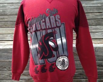 Vintage 90s Washington State Cougars sweatshirt - Small - University