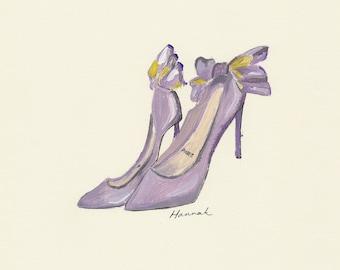Louboutin - Original Acrylic Painting Fashion Illustration Print