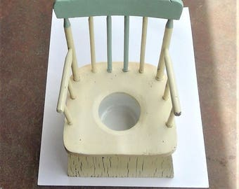 Vintage Child Potty Chair with Chamber Pot