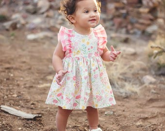 Baby Easter Dress - Toddler Easter Dress - Baby Girl Easter Outfit - Baby Bunny Dress - Spring Dress - Floral Baby Dress - Easter Outfit