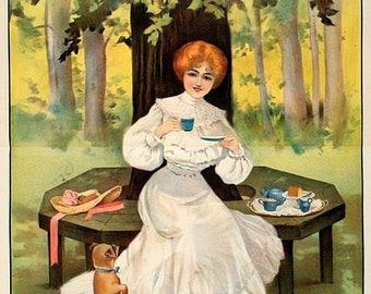 Vintage Mazawattee Tea Advertising Poster  A3 Print
