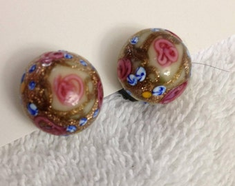 Vintage hand crafted glass earrings