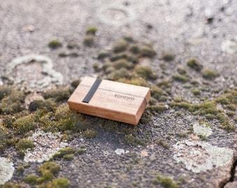 Men's wooden wallet, walnut wallet, wooden wallet, card holder, wood wallet