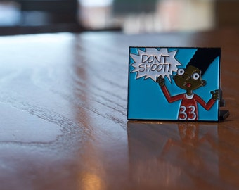 Don't Shoot Jerald // Black Lives Matter, Pin, Lapel Pin, Flair, Brooch, Shrink Plastic, Button, Handmade, DIY, Tiny, Hey Arnold,  Statement
