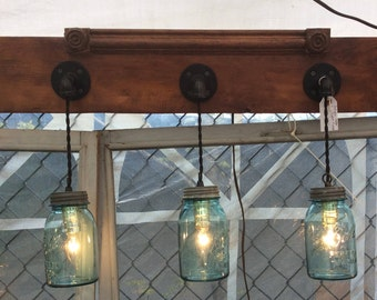 Antique Mason Jar Light fixture