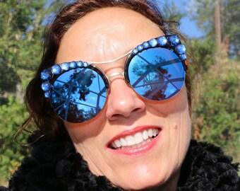 Blue Kitty sunglasses