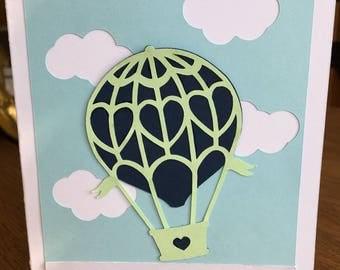 Hot Air Balloon Graduation card, Card with Hot Air Balloon, Graduation Card
