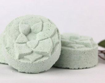 Breathe Shower Steamer - Sinus Aromatherapy - shower bomb, shower melt, shower fizzy, menthol, eucalyptus, camphor, rosemary
