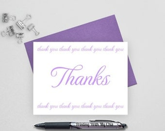 Thank you note cards, Wedding thank you cards set, Wedding Stationery, thank you notes, thank you cards wedding,notecards, FTC2