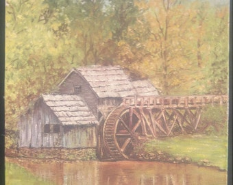 Oil Painting - Mill Scene - Landscape