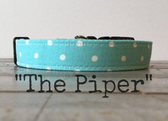 Cool DOG COLLAR, Dog Collar, Modern Dog Collar, Aqua Dog Collar - The Piper!!
