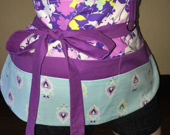 Multi Color Purple Apron