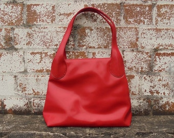 80's Red Bag, Red Handbag, Charlie Brown, Vintage Handbag