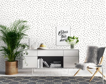 Dotty Wallpaper, Printed, Wall Decor, Removable Wallpaper, Watercolour