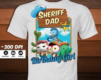 Digital Sheriff Callie Iron on Transfer T-Shirt-Printable Sheriff Dad Shirt -Birthday shirt party decoration-DIGITAL  Download