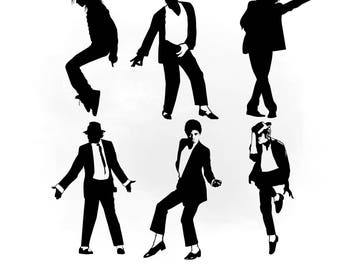 michael jackson svg clipart michael jackson vector svg files for silhouette for cricut