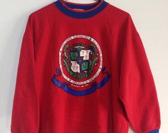 Vintage Guess Georges Marciano 1988 red sweatshirt Medium