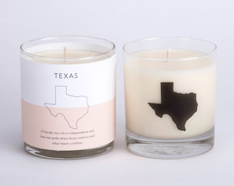 Texas Scented Candle Soy Candle Texas Home Candle Hostess Gift Texas Home State Texas Homesick Gift The Original Scripted Fragrance