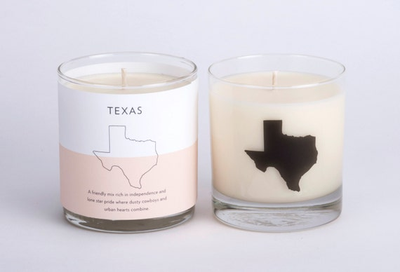 soy candle soy candle texas home candle hostess gift texas home state