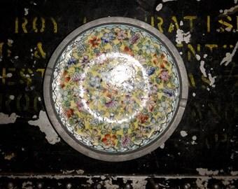 Vintage floral ashtray