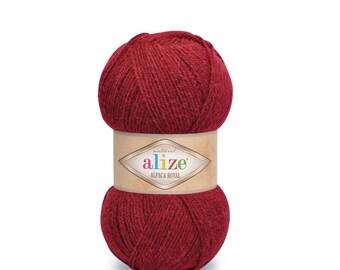 ALIZE ALPACA ROYAL Blend acrylic wool alpaca warm yarn winter yarn hand knit yarn Wool Yarn acrylic yarn color choice