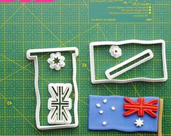 Australian Flag Fondant Cutter