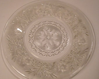 """Sandwich Glass Dinner Plate by Anchor Hocking Glass 9"""""""