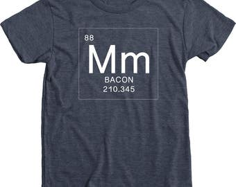 Bacon Periodic Element Kids Tri-blend T-Shirt