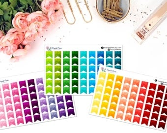 Small Watercolor Flag Stickers (54 Stickers)