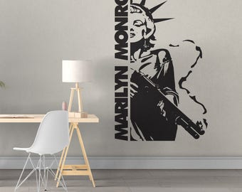 Marilyn Monroe Decal - Multiple Colors and Sizes - Shotgun Liberty