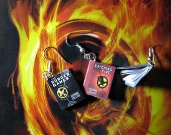 Miniature book Jewelery Earrings Hunger Games
