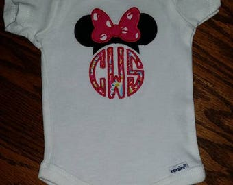 Monogrammed Minnie Mouse Ears
