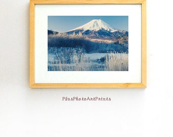 Mt Fuji print,fine art photography,Japan fine art print,winter art,photography,art print,photo,picture,wall art,artwork,print,décor,