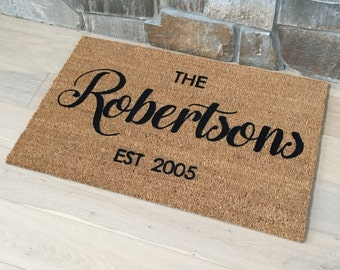 Door Mats / Welcome Mat / Personalized Doormat / Custom Door Mat / Wedding Gift / Realtor Gift / Housewarming Gift / Door Mat / Gift Ideas