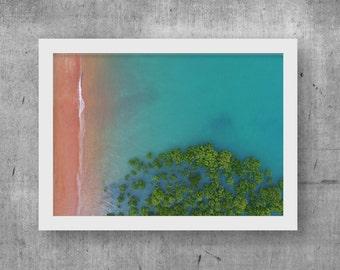 High Tide Print, Wall Art, Digital Print, Printable Download, Drone, Aerial, Photo, Home Decor, Ocean, Digital Download, Beach, Poster