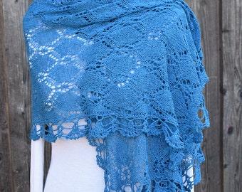 """Lace scarf stoles """"Laura"""", cloth, Bouretteseide, Sommerschal"""