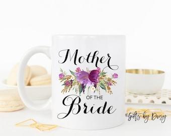 Mother of the bride coffee mug, mother of the bride mug, wedding mug, gift for mom, engagement mug, christmas gift, wedding gift m-103