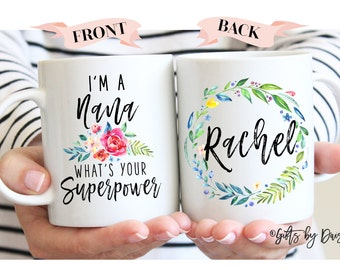Nana gift ideas, superpower  nana, coffee mug, nana mug, Gifts for nana, gifts for her, Funny mugs, Mom Gifts, Mom Superpower, m320g
